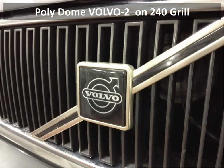 Poly                             Dome VOLVO-2 Grill Emblem on 240.